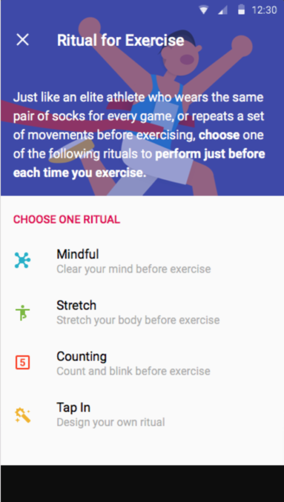 rituals for exercise