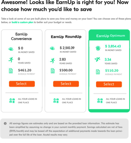 EarnUp test for saving money | Budget management