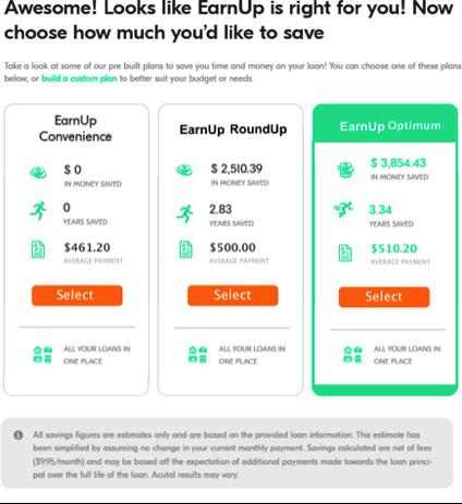 EarnUp test for saving money | Budget management