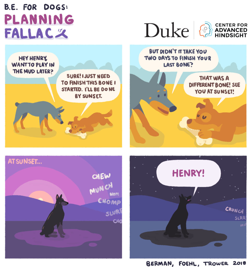 behavioral economics - B.E. for Dogs - Planning fallacy